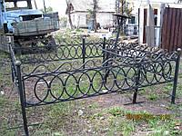 Красивая кованая оградка