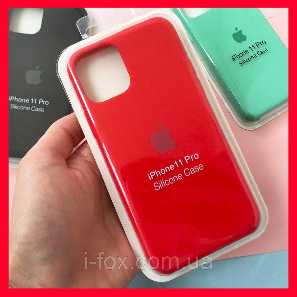 Чохол накладка xCase для iPhone 11 Pro Silicone Case Full червоного кольору