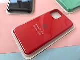 Чохол накладка xCase для iPhone 11 Pro Silicone Case Full червоного кольору, фото 4