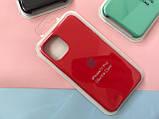 Чохол накладка xCase для iPhone 11 Pro Silicone Case Full червоного кольору, фото 2