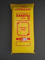 Пакет полиэтиленовый для фасовки пищевых продуктов, 10+4х2х22, плотность 6 мкм, 800 шт. в упак.