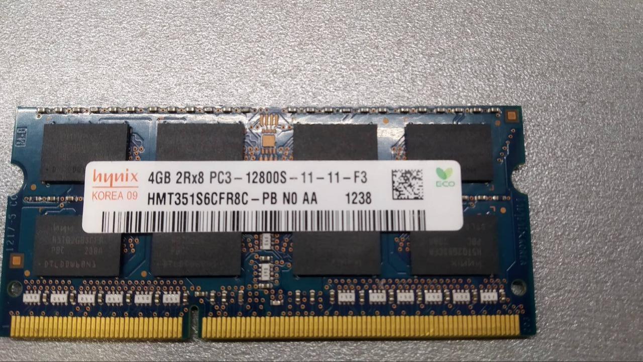 Оперативная память для ноутбука SO-DIMM Hynix DDR3 4GB PC3-12800S DDR3 4GB1600 МГц. 1.5
