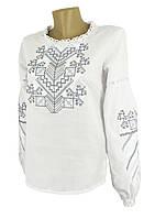 Женская вышиванка белого цвета с длинным рукавом