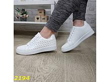 Кеды классические белые легкие К2194
