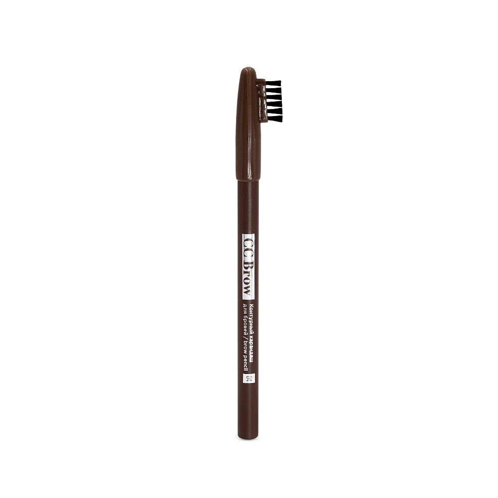 CC Brow brow pencil. Класичний контурний олівець для брів з пензликом.