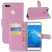 Чехол-книжка Litchie Wallet для Huawei P9 Lite Mini / Nova lite 2017 Pink