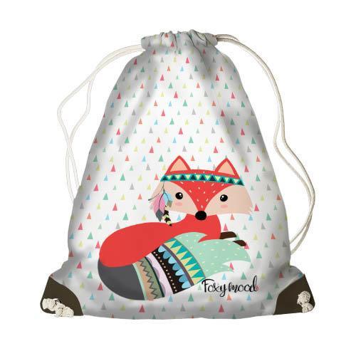 Рюкзак-мешок MINI Гламурная лисичка 26*36 см (DRM_17M039_MR)