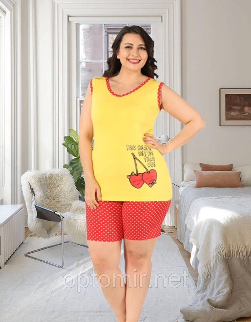 Комплект двійка жіночий: майка і шорти Miss Victoria Туреччина батал 2XL   1 шт.