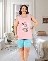 Комплект двойка женский: майка и шорты Miss Victoria Турция батал 2XL, 3XL, 4XL | 1 шт.