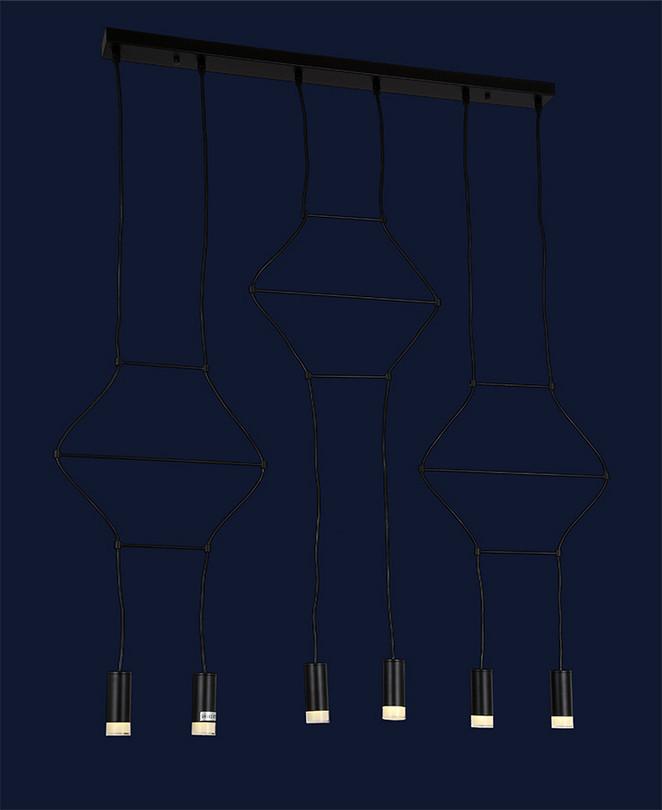 Декоративный подвесной светильник 720P16021-6 BK