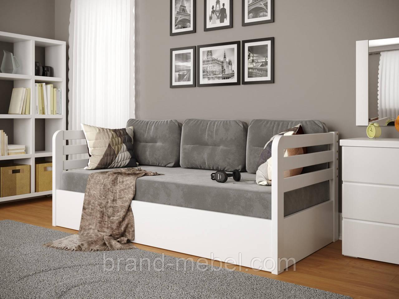 Дитяче односпальне дерев'яне ліжко Немо Люкс / Детская деревянная кровать Немо Люкс