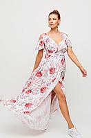 Нежное женское платье длинное в пол макси из легкой летней ткани