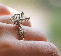 """Женское серебряное колечко 925 пробы в форме бабочки """"Миконос"""", фото 1"""