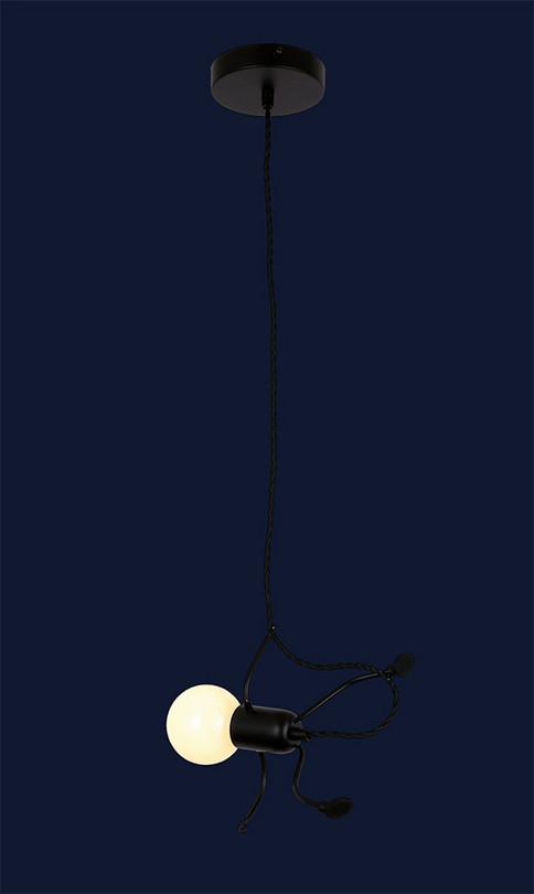 Подвесной светильник человечек 720P26016-1S BK