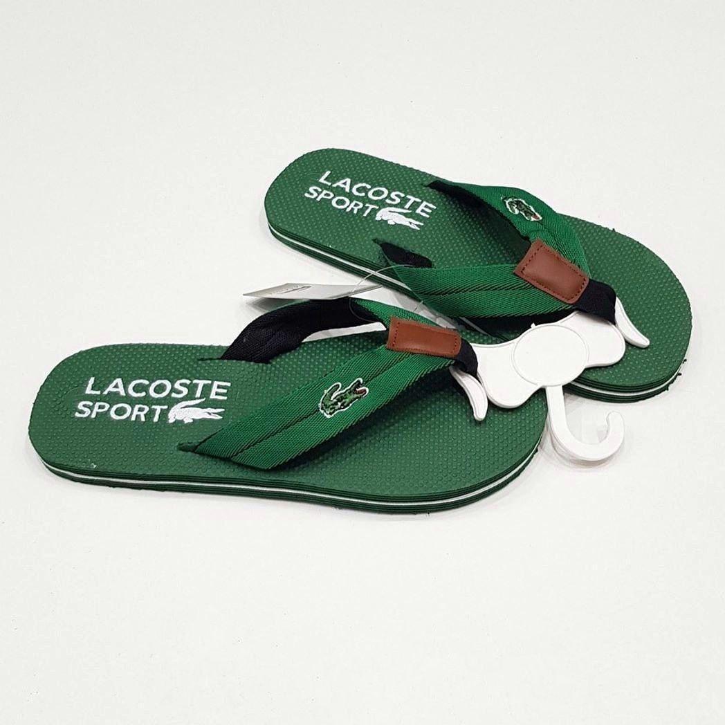 Мужские сланцы Lacoste CK819 зеленые
