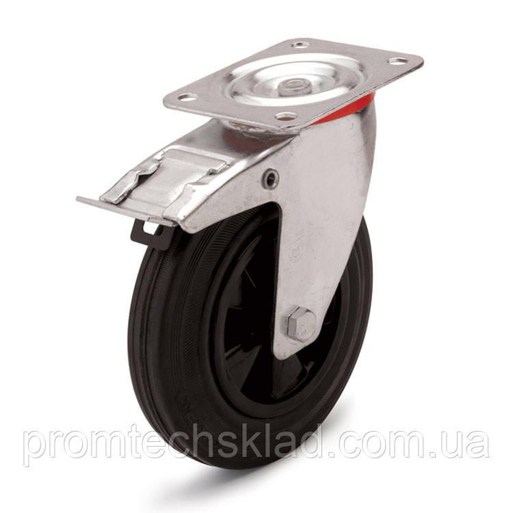 Колесо поворотное с тормозом 200 мм Германия