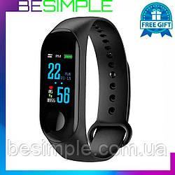 Фитнес браслет Mi Band M3, Умные часы, Фитнес-браслет + Ремешок в подарок