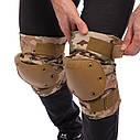 Защита тактическая наколенники, налокотники BC-4267 (ABS, полиэстер 600D, камуфляж Multicam), фото 6