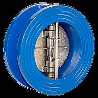Клапан обратный Ду 65 двухстворчатый подпружиненный межфланцевый