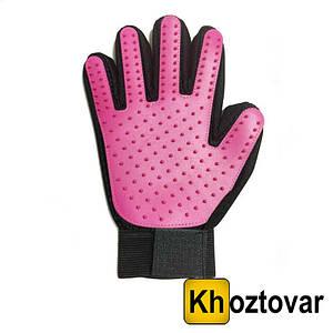Рукавичка для вичісування шерсті домашніх тварин True Touch Glove