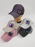 Детские бейсболки Likee с сеточкой для девочек оптом, р.54, фото 1