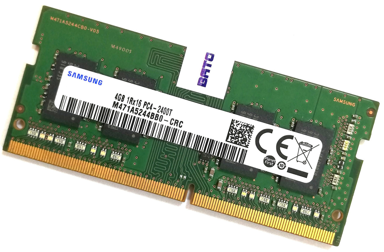 Оперативная память для ноутбука Samsung SODIMM DDR4 4Gb 2400MHz 19200S 1R16 CL17 (M471A5244BB0-CRC) Б/У