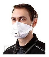 Защитная маска складной респиратор 3М VFlex 9162Е с клапаном выдоха
