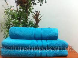 Махровое полотенце 50х90, 100% хлопок 500 гр/м2, Пакистан, Бирюза, Без борда