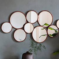 Абстрактное круглое зеркало Gallery Direct Kempsford бронза (5055999253734)