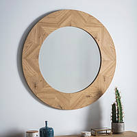 Круглое зеркало Gallery Direct Milano светлый дуб (5055999243100)