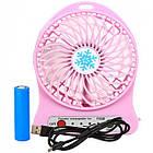 Мини-вентилятор Portable Fan Mini розовый, фото 4