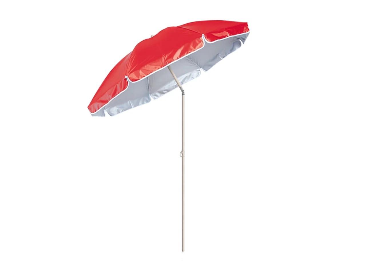 Пляжный зонт с наклоном 200 см Umbrella Anti-UV ромашка красный