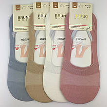 Следки женские BRUNO однотонные, следки цветные р.35-40
