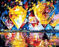 """Раскраска по номерам """"Воздушные шары"""" худ. Афремов Леонид (KH1012) Идейка 40 х 50 см"""