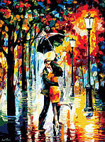 Картина по цифрам Осенняя романтика худ. Афремов Леонид (KH1016) Идейка 40 х 50 см