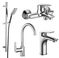 Набор смесителей для ванны+кухня imprese PL 4 в1 51003055