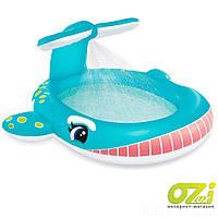 Детский надувной бассейн Intex 57440 «Кит» с фонтаном