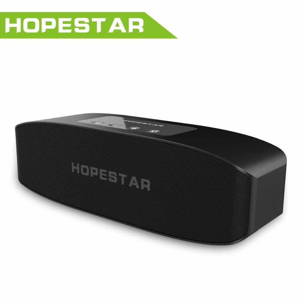 Портативная влагозащищенная стерео колонка Hopestar H11 (Bluetooth, MP3, FM, AUX, Mic) Черный