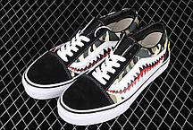 """Кеды Vans Old Skool x Bape Custom """"Черные"""", фото 3"""
