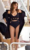 Женский раздельный купальник ,Топ с завязками и винтажным силуэтом для пышных форм