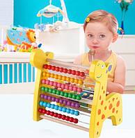 Детские счеты жираф. Игрушка Монтессори развивающая игрушка. Отличный подарок