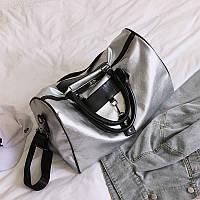 Серебристая женская сумка