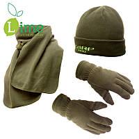 Флисовая шапка + шарф + рукавички, Carp Pro