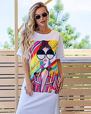 Легке трикотажне плаття-футболка розміри 44,46,48, фото 3