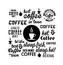 Наклейка на стену Кава понад усе (кофе, кава, слова кофе, декор в кофейню), фото 2