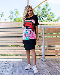 Красива сукня-футболка розміри 42,44,46,48