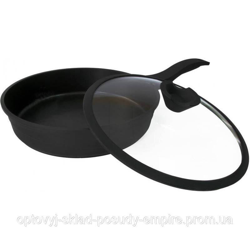 Сковорода з антипригрным покриттям 28 см Lessner Black Pro New 88374-28