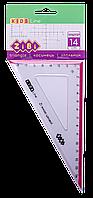 Угольник ZiBi KIDS Line 14 см 90° 60° с розовой полосой блистер