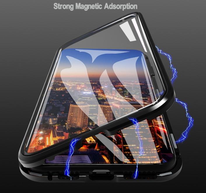 Магнитный чехол со стеклянной передней изадней панелью для Samsung Galaxy Note  8 (SM-N950F)