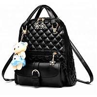 Класический рюкзак для девочек в черном цвете